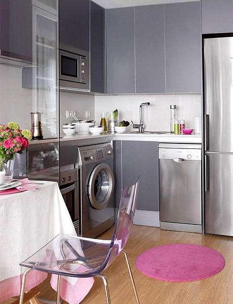 стиральная машина в интерьере кухни