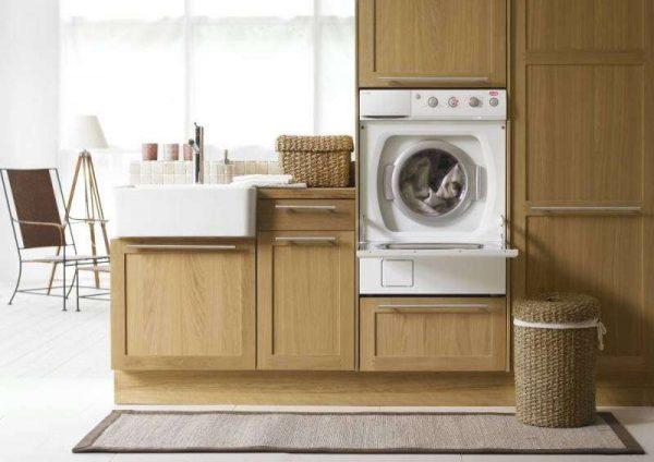 стиральная машина фронтальная на кухне