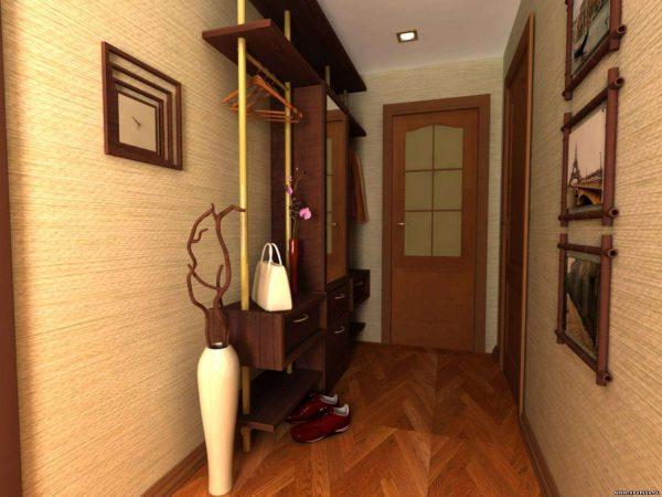 узкий коридор в японском стиле