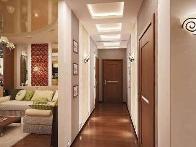 Дизайн прихожей длинный узкий коридор