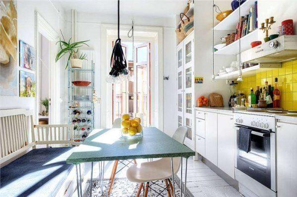 интерьер кухни жёлтого цвета
