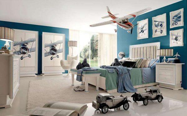 стены детской комнаты мальчика