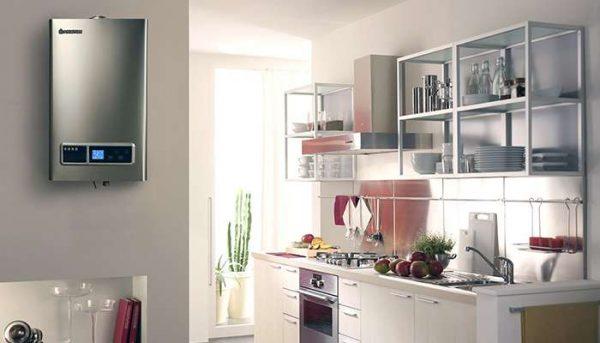 кухня хай тек с газовым котлом