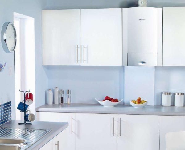стильный газовой котёл на кухне
