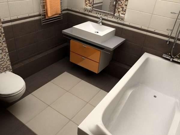 полы из керамической плитки в ванной