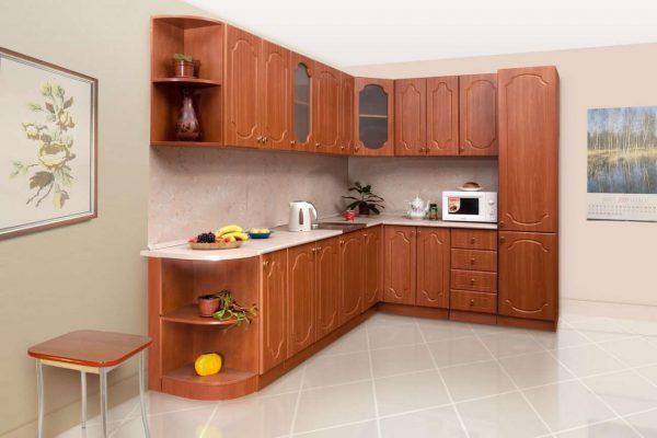 угловая модульная кухня своими руками в классическом стиле