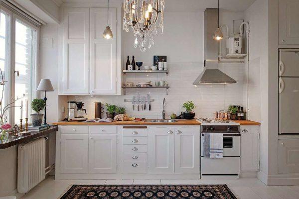 рамочные фасады на маленькой кухне