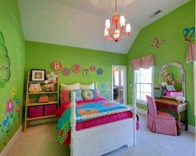 зелёные обои для детской комнаты