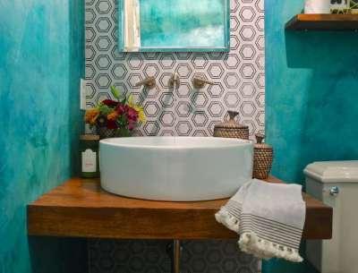 Крашенная ванная - оформляем с умом (77 фото идей дизайна) 22
