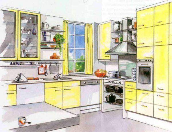 чертёж кухни своими руками