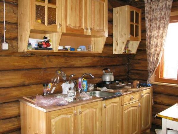 деревянная светлая кухня своими руками