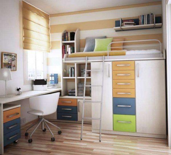 функциональная мебель для мальчика в детской комнате