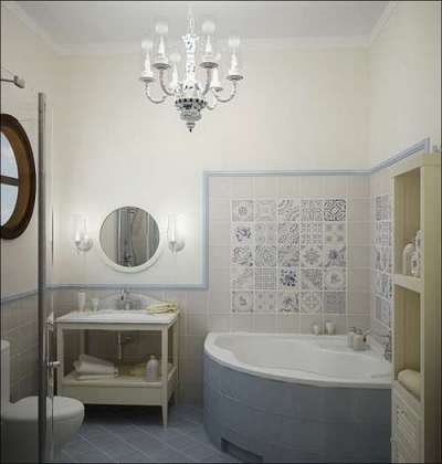 интерьер ванной в хрущёвке с угловой ванной