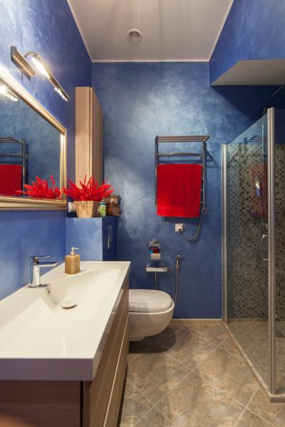 Дизайн ванной комнаты фото с крашенными стенами