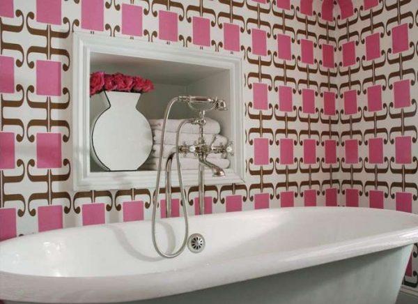 моющиеся обои в ванной легко моются