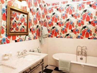 самоклеющиеся обои в ванной комнате