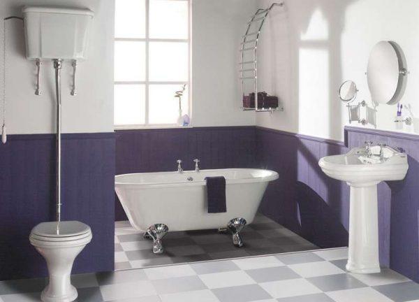 водоэмульсионная краска в интерьере ванной комнаты