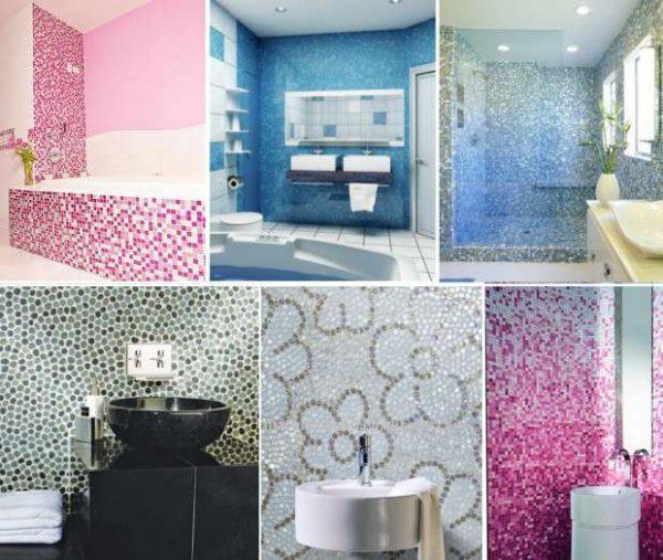виды мозаики для отделки ванных комнат