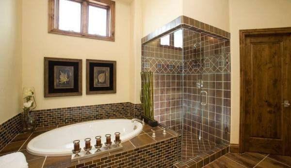 плитка и краска в отделке ванной комнаты
