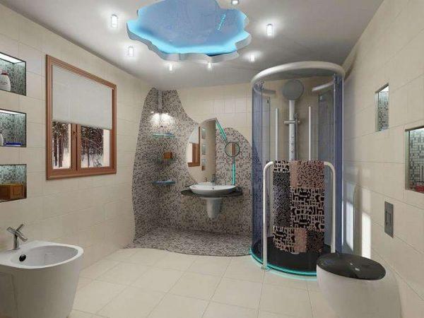 мозаика с плиткой в отделке ванной