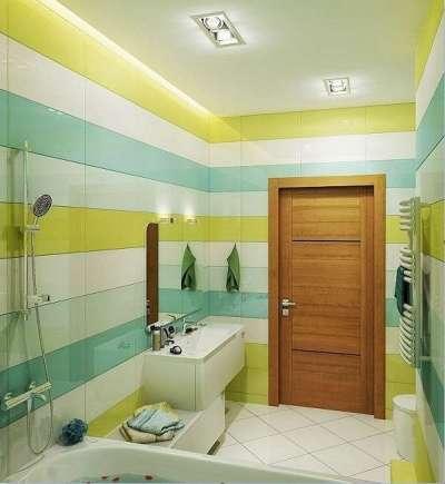 двери из дсп в интерьере ванной комнаты