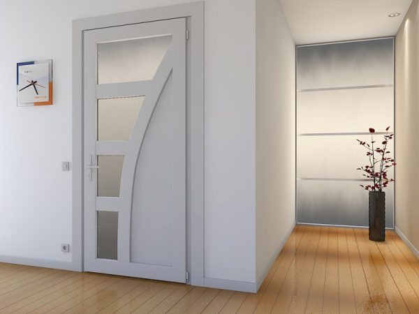 двери из пвх в интерьере ванной комнаты