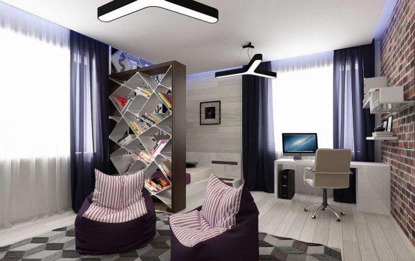 комната мальчика подростка в стиле авангард