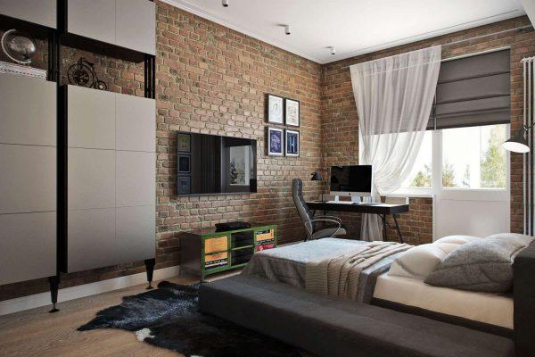 комната мальчика подростка в стиле лофт