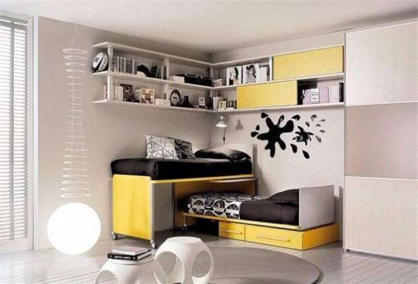 интерьер комнаты мальчика подростка в стиле хай тек