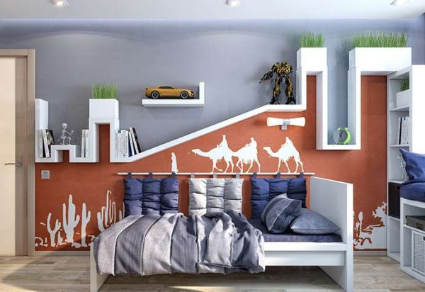 интерьер комнаты мальчика подростка в африканском стиле