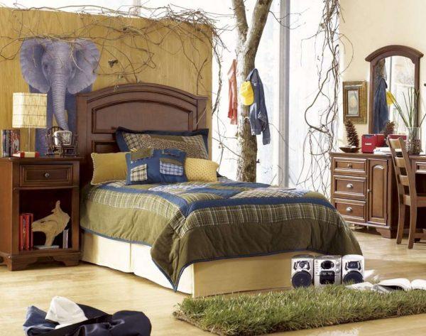 комната мальчика подростка в африканском стиле