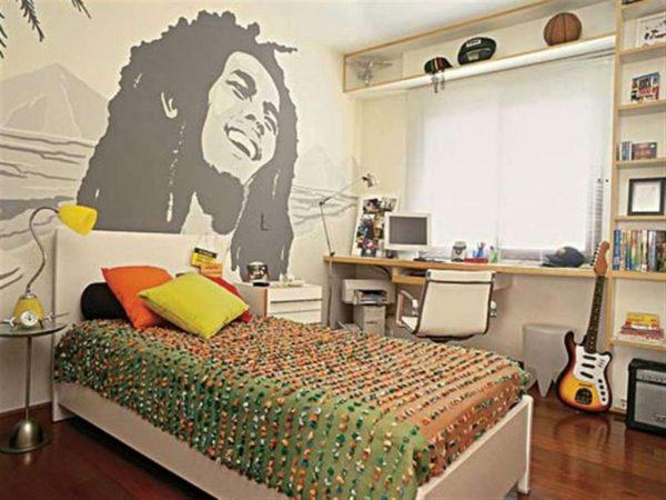 дизайн комнаты для мальчика подростка в стиле китч
