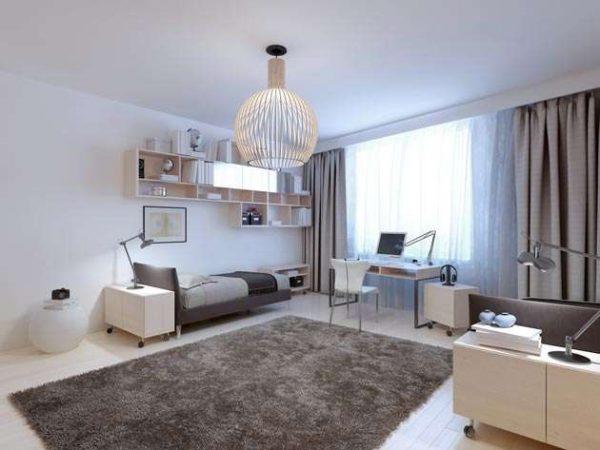 интерьер комнаты мальчика подростка в стиле конструктивизм