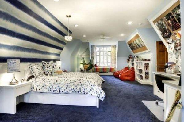 стильное оформление комнаты мальчика подростка