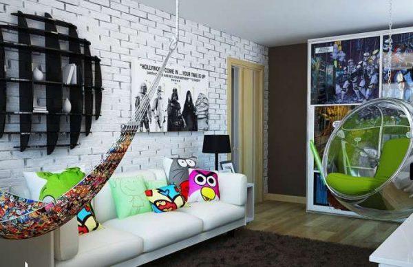комната мальчика в стиле хай тек
