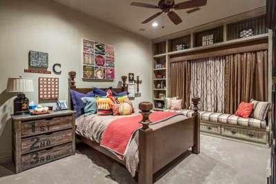 интерьер комнаты мальчика подростка в классическом стиле