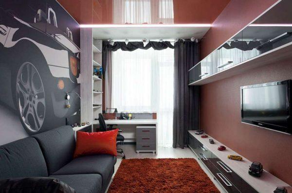 интерьер комнаты мальчика подростка в стиле авангард