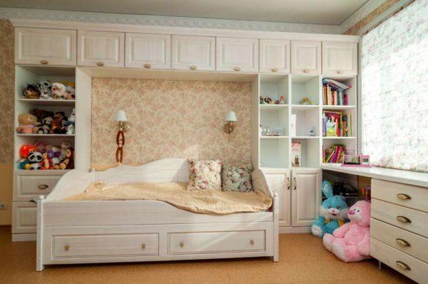 в интерьере комнаты для девочки стиль прованс