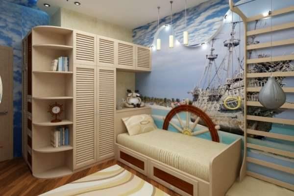 морской стиль в интерьере комнаты мальчика