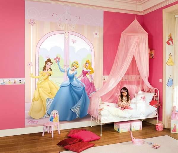 фотообои принцессы в детской комнате