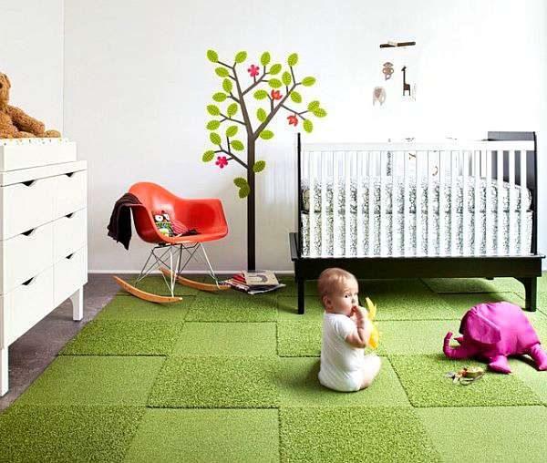 ковёр в комнату для новорождённого