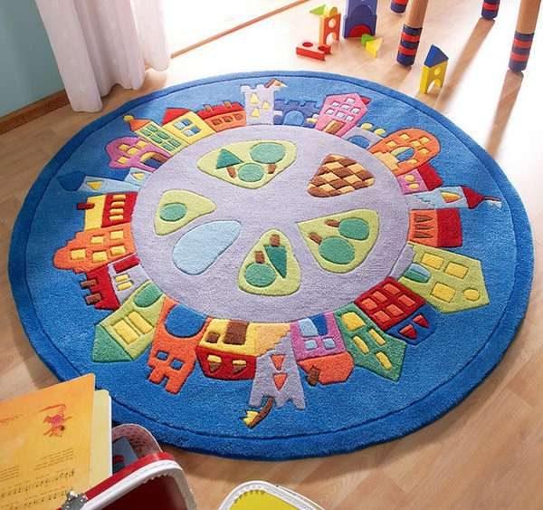 круглый ковёр для детской комнаты