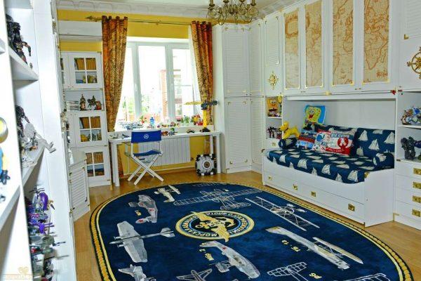ковёр с самолётами для комнаты мальчика