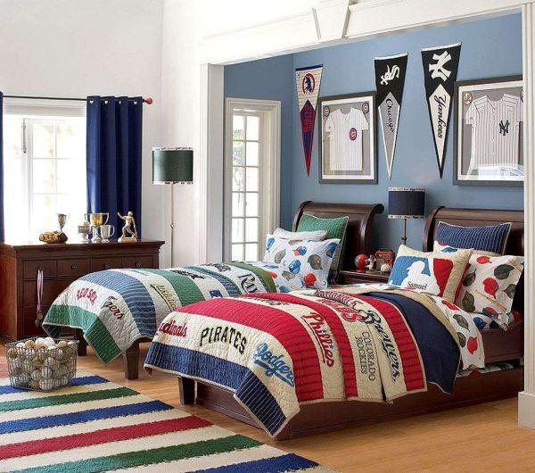 ковёр в интерьере детской комнаты подростка