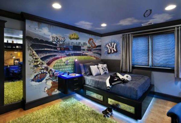 ковёр с длинным ворсом в интерьере детской комнаты