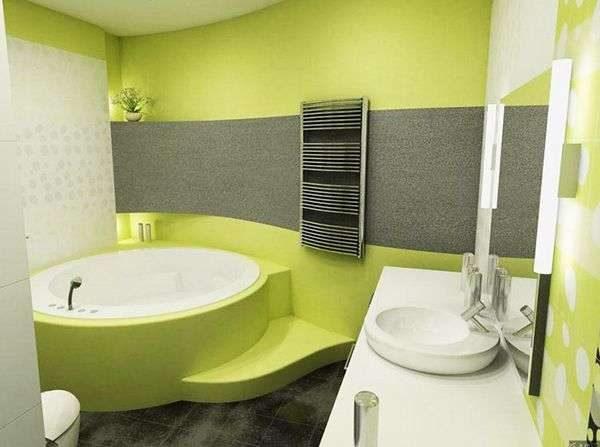 салатовые стены в ванной