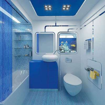 интерьер ванной комнаты 2 кв.метра с унитазом в нише