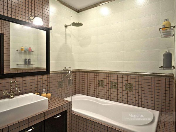мозаика в маленькой ванной комнате
