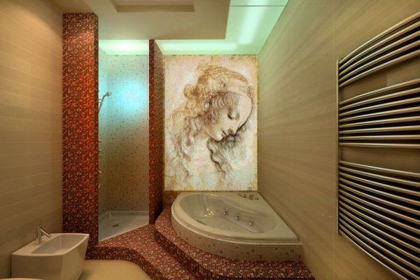историческая мозаика в ванной комнате
