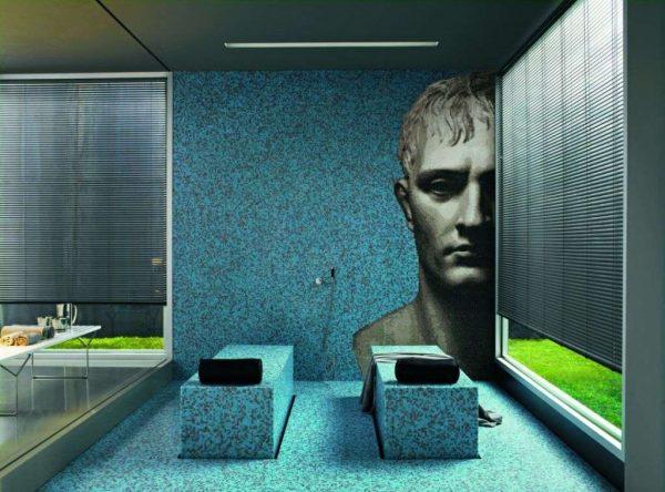 мозаичная картина в ванной